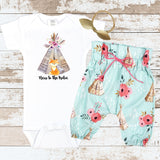 Teepee Fox New To The Tribe Newborn Outfit