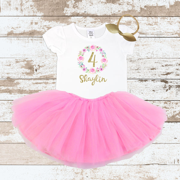 Custom Pink Wreath 4 Pink Tutu Outfit