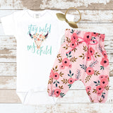 Stay Wild My Child Newborn Outfit