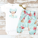 Stay Wild My Child Teepee Pants Newborn Outfit