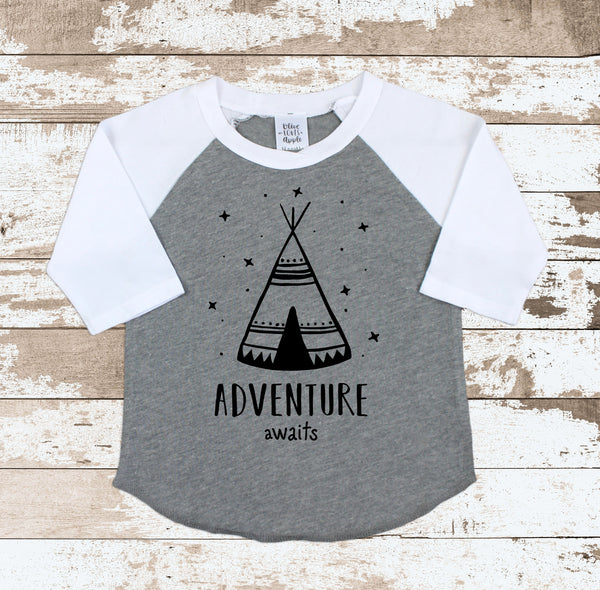 Adventure Awaits Gray Rag