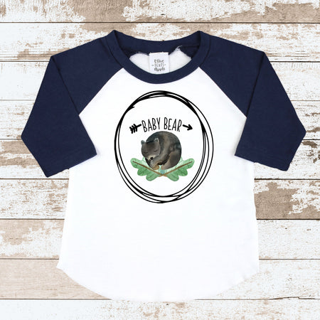 My Daddy Is My Hero Police Navy Blue Raglan Shirt