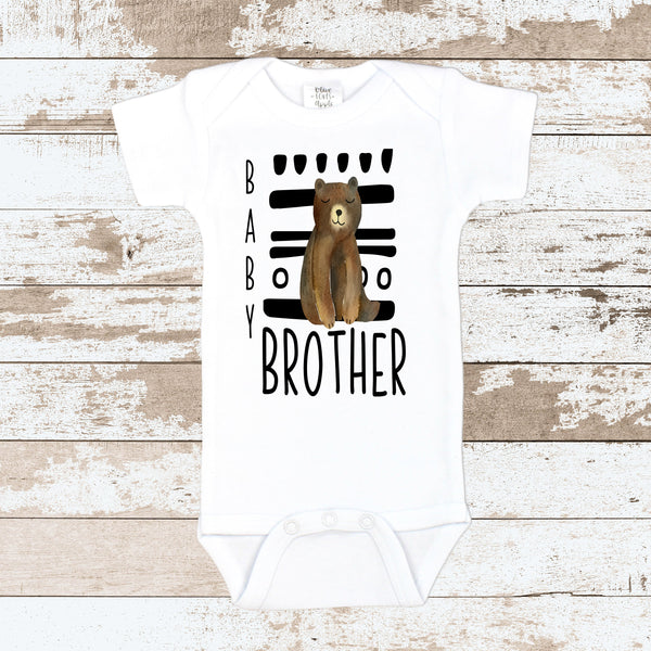 Baby Brother Tribal White Bodysuit