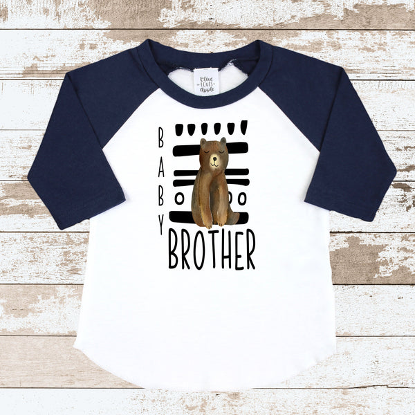 Little Brother Tribal Navy Raglan Shirt