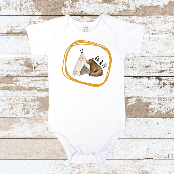 Big Bear Teepee White Bodysuit