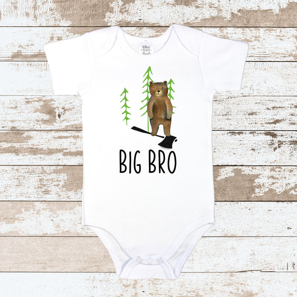 Big Bro Forest White Bodysuit