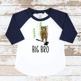 Big Bro Forest Navy Raglan Shirt