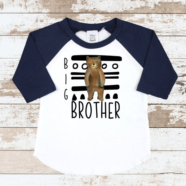 Big Brother Tribal Navy Raglan Shirt