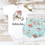 Birthday Babe Teepee Bloomers Outfit
