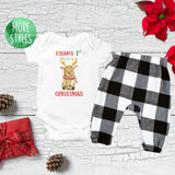Custom First Christmas Reindeer Boy Outfit