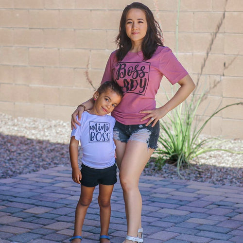 Boss Lady & Mini Boss Matching Tops