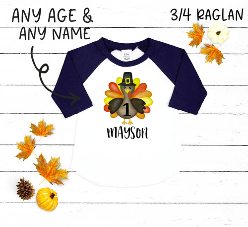 Custom Thanksgiving Birthday Boy Bodysuit and Shirt