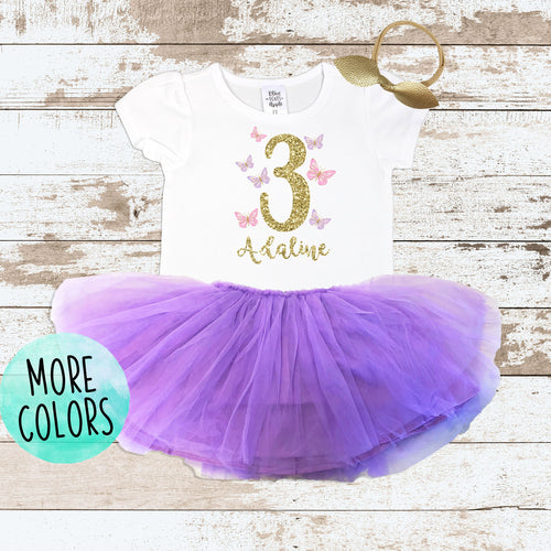 Custom Butterfly 3 Purple Tutu Outfit