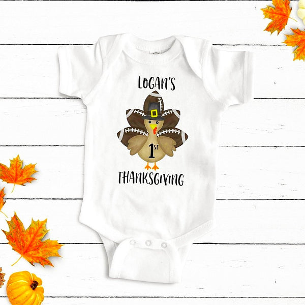 fa4283a3 First Thanksgiving Football Boy Bodysuit – Olive Loves Apple