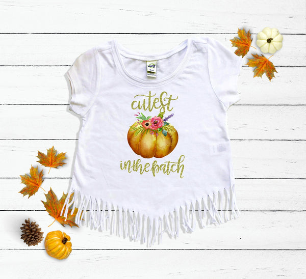 Cutest Pumpkin in the Patch Fringe Shirt