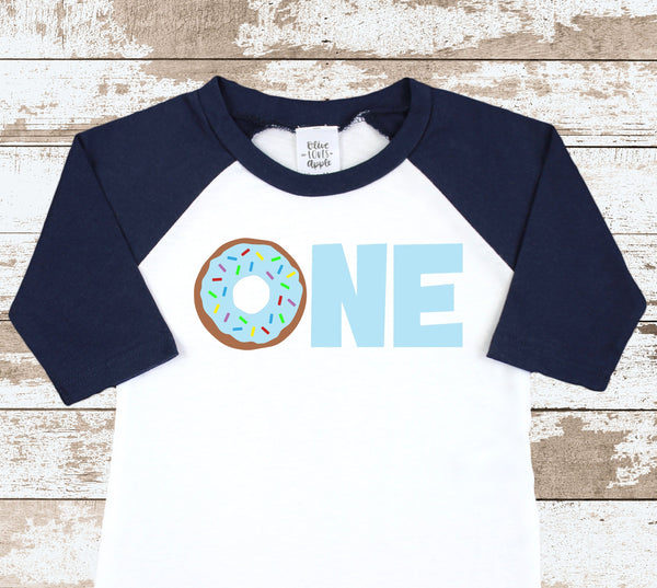 Donut One Navy Blue Raglan