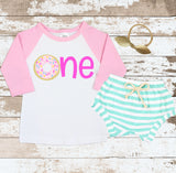 Pink One Donut Mint Shorts Outfit