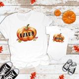Fall Daddy Pumpkin Little  Matching Tops