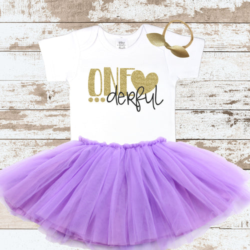 ONEderful 1st Birthday with Purple Tutu