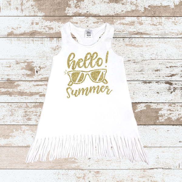 Hello Summer Glitter Gold