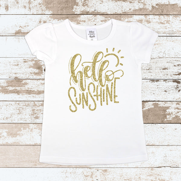 Hello Sunshine Glitter Gold