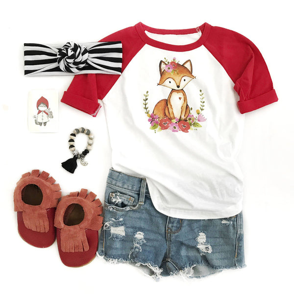 Fox Red Raglan Shirt