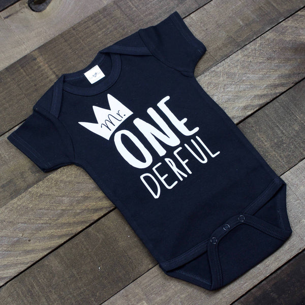 Mr. ONE derful Black Bodysuit
