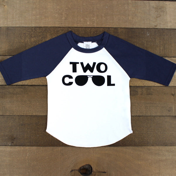 Two Cool Navy Blue Raglan