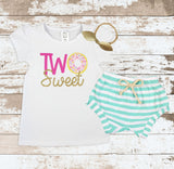 Pink Two Sweet Donut Mint Shorts Outfit
