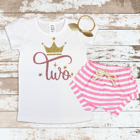 Custom 2nd Birthday Llama Pink Shorts Outfit