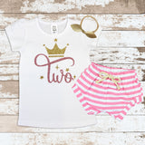 Rose Gold Two Crown White Shirt