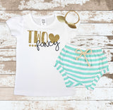 Gold Two Fancy Shirt Mint Shorts Outfit