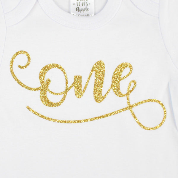Gold One White Bodysuit