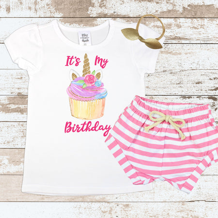 Birthday Babe Pink Shorts Outfit