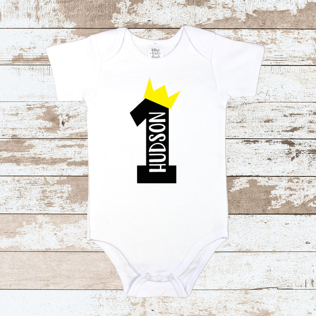 Custom 1 Crown White Bodysuit