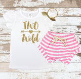 Gold Two Wild Pink Shorts Outfit