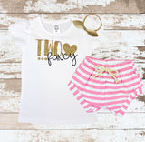 Gold Two Fancy Pink Shorts Outfit