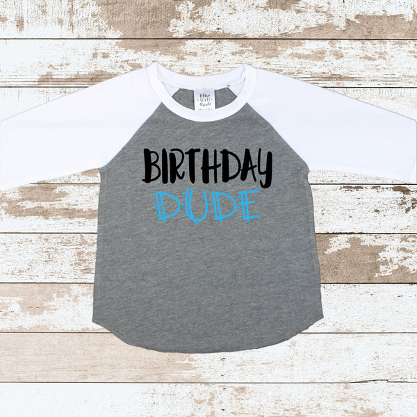 Birthday Dude Gray Raglan