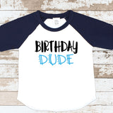 Birthday Dude Navy Raglan