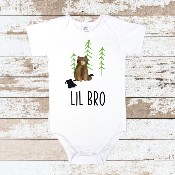 Lil Bro Forest White Bodysuit