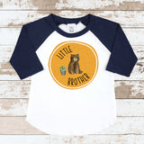 Little Brother Orange Navy Raglan Shirt
