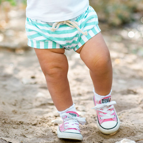 Mint Striped Shorts | Toddler Shorts