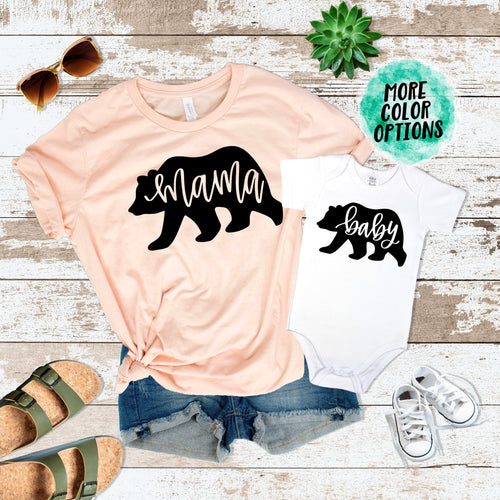 Mama Bear & Baby Bear Matching Tops
