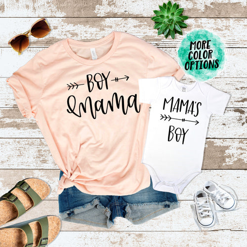 Boy Mama & Mama's Boy Matching Tops
