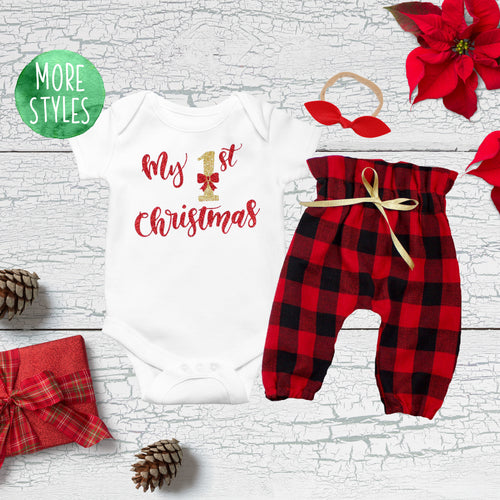 My First Christmas Girl Outfit