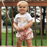 Gold One Pink Floral Bloomer Outfit