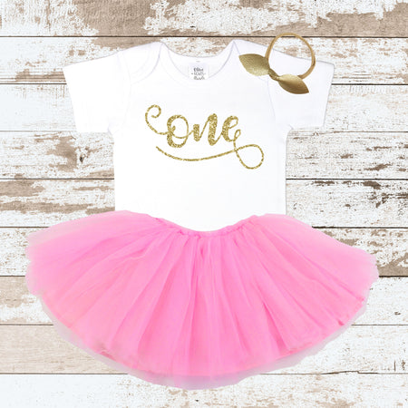 Gold Wild One Purple Tutu Outfit