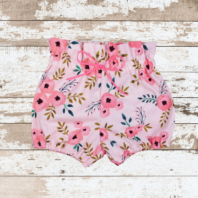 Pink Floral Bloomers