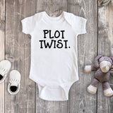 Plot Twist Pregnancy Reveal White Bodysuit