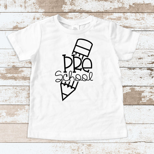 Pre-School Pencil White T-Shirt